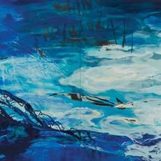 El estanque de Monet 150x400cm Rufina Santana copy