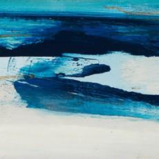 Las orillas. El horizonte 19x70cm Rufina Santana